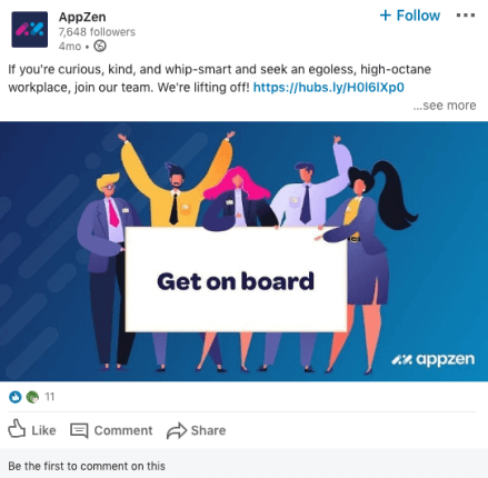 AppZen LinkedIn post