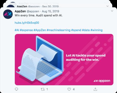AppZen Twitter post