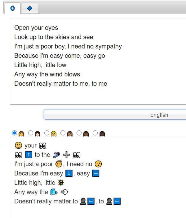 bohemian rhapsody lyrics in emojis