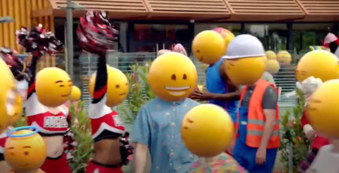mcdonalds commercial with emojis.