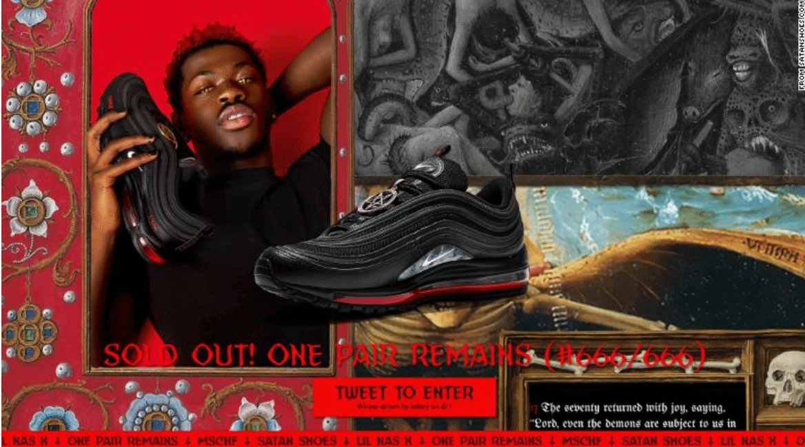 Lil Nas X with the Satan Shoes