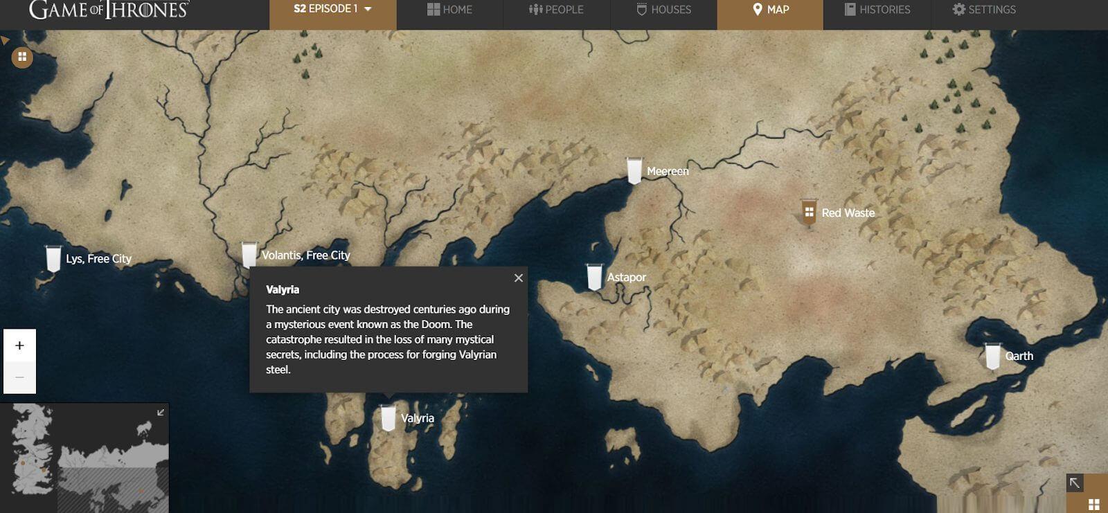 GoT Interactive Web Design Video