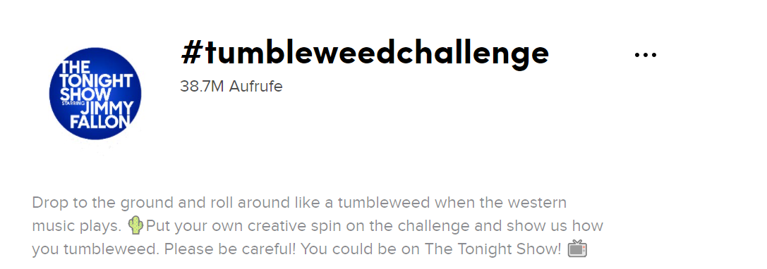 Tumble Weed Challenge- The Tonight Show